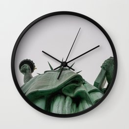 A Lady in green - NYC Wall Clock