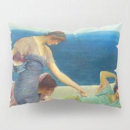 "Sir Lawrence Alma-Tadema ""Feeding the fishes"" Pillow Sham"
