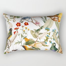 Floral and Birds XXXII Rectangular Pillow