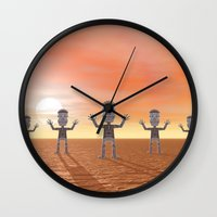 zombies Wall Clocks featuring Zombies by Phil Perkins