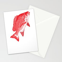 Red Fish 715 Stationery Cards
