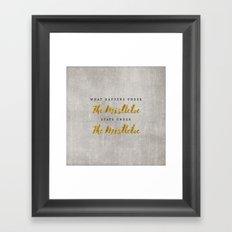 What Happens under The Mistletoe Framed Art Print