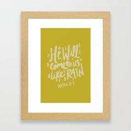Hosea 6: 3 x Mustard Framed Art Print