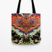third eye Tote Bags featuring Third Eye by FractalFox