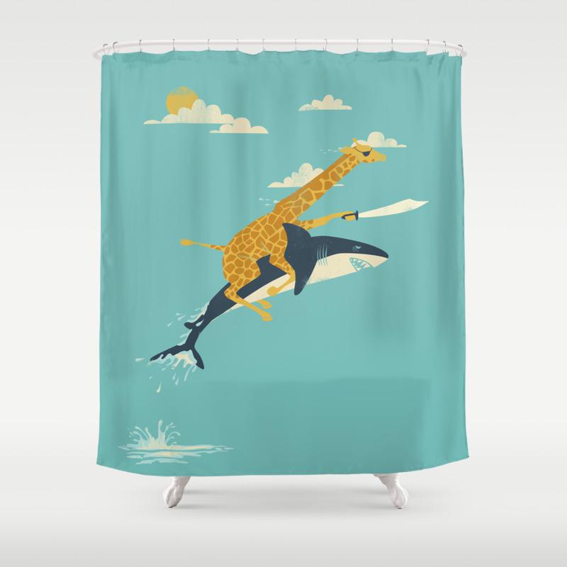 Illustration Shower Curtains Society6