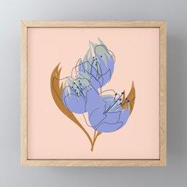 Sweet Pea Framed Mini Art Print