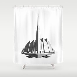 City Block Perspective Shower Curtain