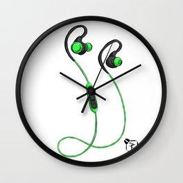 Ear Buds Wall Clock