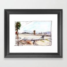 Landing in California Framed Art Print