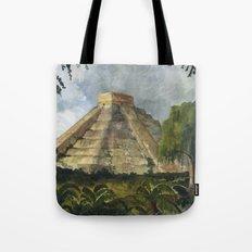 Mayan Pyramid Tote Bag