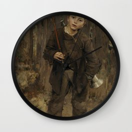 Jules Bastien-Lepage - Pas Mche (Nothing Doing) Wall Clock
