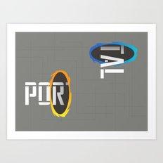 POR---TAL Art Print