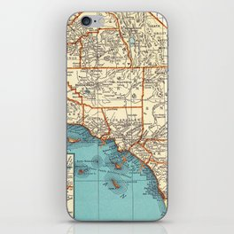 So Cal Surf Map iPhone Skin