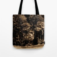 puerto rico Tote Bags featuring Cara del Indio, Isabela, Puerto Rico by Silmagerie