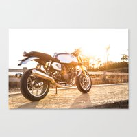 ducati Canvas Prints featuring Ducati 007 by Austin Winchell