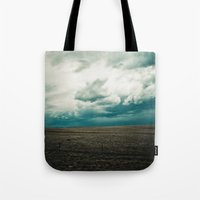 montana Tote Bags featuring Montana Sky by Emerald Shatto