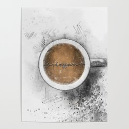 Coffee Heartbeat Poster