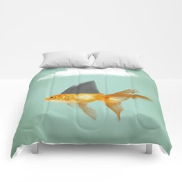 Goldfish with a Shark Fin (under a cloud) Comforters