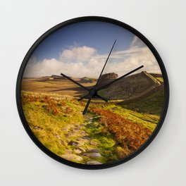 Hadrian's Wall, near Housesteads Fort in early morning light Wall Clock