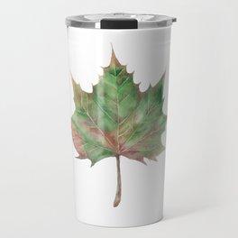 autumn leaf watercolor Travel Mug