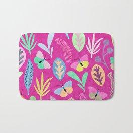 Flower and Butterfly Bath Mat