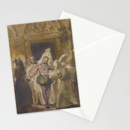 François-Marius Granet CHARLES V AT THE MONASTERY OF YUSTE Stationery Cards