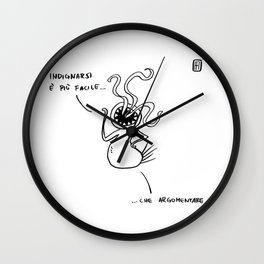 Mostro Brutto indignato Wall Clock