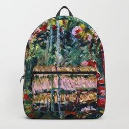 Claude Monet - Peony Garden Backpack