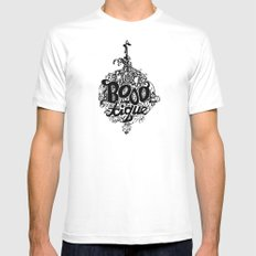 BOOO-tique! White Mens Fitted Tee MEDIUM