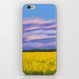 Canola Fields at Dusk iPhone Skin