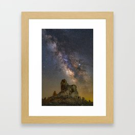 Milky Way over Trona Pinnacles 2 Framed Art Print