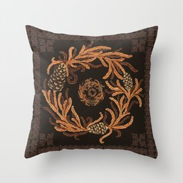 Wreath and Diamond Throw Pillow
