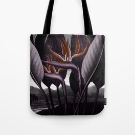 Birds of Paradise : Temple of Flora Dark Tote Bag