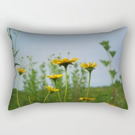 Reaching for the sky - prairie Heliopsis Rectangular Pillow