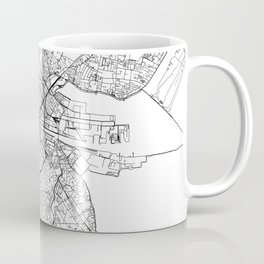 Dublin White Map Coffee Mug