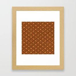 Autumn Season Vintage Argyle Framed Art Print