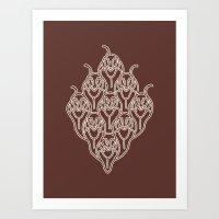 Brown Dachshunds Art Print