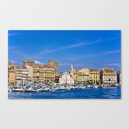 Marseille view from sea. Canvas Print