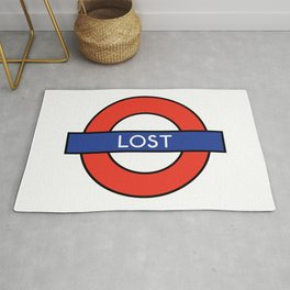 London Underground Spoof Lost Sign Rug