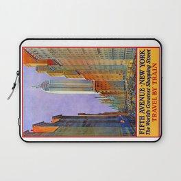 New York, vintage poster Laptop Sleeve