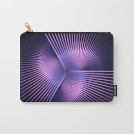 Purple Rays Carry-All Pouch