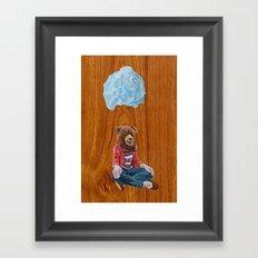 Bear Girl Framed Art Print