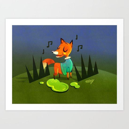 Foxie Art Print