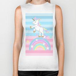 Rainbow Unicorn Biker Tank