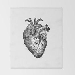 Vintage Heart Anatomy Decke