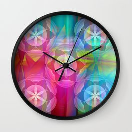 Flowers of Life Wall Clock