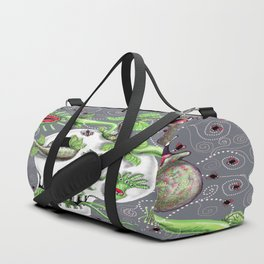 skull pot with carnivorous plants Duffle Bag
