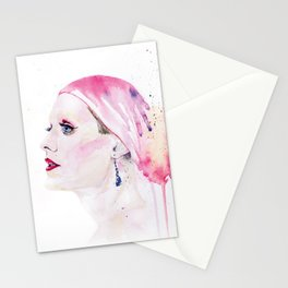 Rayon   Jared Leto in Dallas Buyers Club   Watercolor Portrait Stationery Cards
