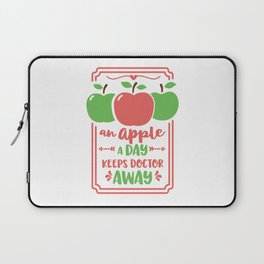 an apple a day keeps doctor away Laptop Sleeve