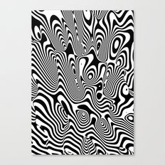 Trippy Background Canvas Print